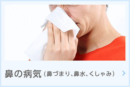 鼻の病気(鼻づまり、鼻水、くしゃみ)