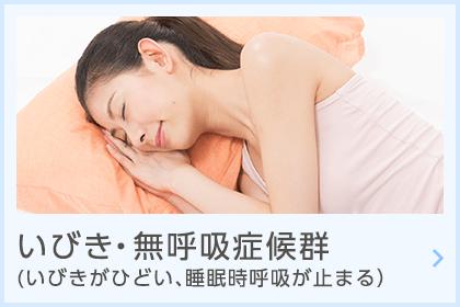 いびき・無呼吸症候群(いびきがひどい、睡眠時呼吸が止まる)